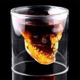 Kreativer hoher Borosilicat-Schädel geformtes doppel-wandiges GlasBarware des Spiritus-Cup-150ml