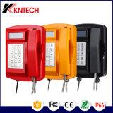 Водоустойчивый телефон кнопочной панели Knsp-18LCD Kntech металла LCD телефона сверхмощный