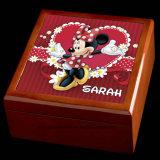 Cadre de bijou en bois personnalisé de souris de Minnie