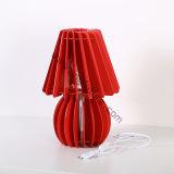 Lâmpada de mesa de madeira do vaso elegante de DIY