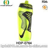 600ml BPA portatile liberano la bottiglia di sport della plastica, bottiglia di acqua corrente di sport della plastica (HDP-0764)