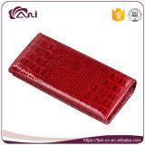 Новое портмоне кожи крокодила типа 2017, бумажник женщин, кожаный бумажник держателя кредитной карточки бумажника