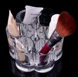 Organizador transparente del cosmético del estilo de la flor y de Holde del cepillo del maquillaje