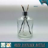 bottiglia a lamella di vetro del diffusore della radura del cilindro 500ml con la protezione di alluminio d'argento