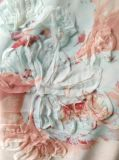 늦게 형식 분홍색 사랑스러운 꽃 자수 여자 t-셔츠