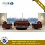 Sofa moderne de bureau de divan de cuir véritable de meubles de bureau (HX-CF019)