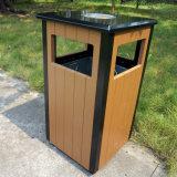 Escaninho de lixo do jardim com madeira plástica para a venda quente (HW-36)