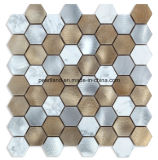 De Tegels Aashnb2101 van de Muur van de Badkamers van Backsplash van de Keuken van de Decoratie van de Tegels van Matel van de Steen van de Tegels van het Mozaïek van het aluminium