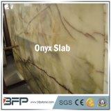 De hete Verkoop poetste de Witte Marmeren Plak van het Onyx voor de Tegel van de Muur op