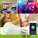 WiFi controló el color multicolor que cambiaba el bulbo elegante de RGBW Dimmable E26 9W APP LED