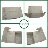 Caixa carimbada feita sob encomenda da folha de prata com a caixa de carimbo quente de prata de gravação do logotipo