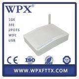 4LAN (1GE+3FE) + Ontario de 2FXS + de 300Mbps WiFi Gepon ONU