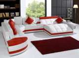 Sofà domestico dell'angolo della mobilia per il sofà del cuoio del salone, sezionale stabilito del sofà moderno