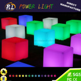 Incandescente Mudança de cor Iluminado Outdoor Furniture Seat LED Cube