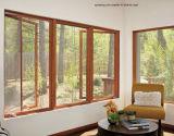 Corredera de aluminio ventanas y la puerta / huracán prueba sólida ventana deslizante Caso de madera