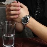 ステンレス鋼のメンズウォッチの防水水晶ブレスレットの腕時計72425