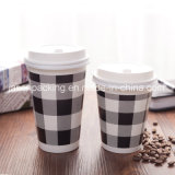 16oz二重壁ペーパーコーヒーカップ