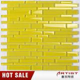 熱い販売の黄色のクリスタルグラスの壁のモザイク・タイル