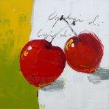 Peinture à l'huile acrylique fabriquée à la main d'art pour le fruit de cerise