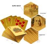 schede di gioco di plastica della stagnola di oro 24k