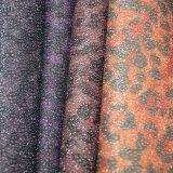 Cuir à la mode coloré de scintillement de point chaud pour les chaussures (E6057)