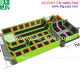 Sosta dell'interno del trampolino di divertimento, campo da giuoco popolare del trampolino (BJ-TR01)