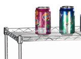 米国の世帯のための調節可能なDIYのクロム金属線の棚付けラック