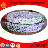手塗りのカスタマイズされたカラー45*34*18cm次元の調理器具のエナメルのロースター鍋