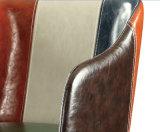 Silla de cuero casera del ocio de los muebles con los apoyabrazos