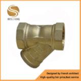 Tipo de cobre amarillo filtro de Y con la cuerda de rosca femenina
