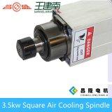 Square refrigerado por aire 3.5kw CNC Router del eje para un tallado en madera 300Hz Recoger 18000rpm ER25