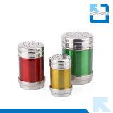 Conjunto Multi-Size colorido del tarro de la especia del condimento de la sal y de la pimienta del acero inoxidable