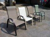 Muebles al aire libre Textilene del patio del vector de 3 del PCS del jardín sillas de plegamiento
