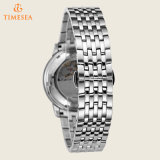 Relógios mecânicos 72475 do aço inoxidável da forma do Preto-Tom dos homens