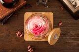 Flor de la promoción en el vidrio para el regalo de boda