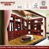 旧式な絵画カスタム固体クルミの木製の寝室のワードローブ(GSP9-007)