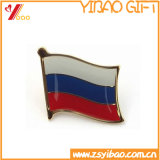 Изготовленный на заказ значок металла формы флага высокого качества (YB-SM-01)