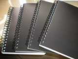 Caderno espiral personalizado 2107 dos artigos de papelaria da tampa de PVC