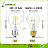Dimming E27 B22 2W-8W Warm White Glass ampoule à LED
