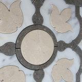 Mosaico di marmo Waterjet del bordo di marmo del reticolo per la stanza da bagno