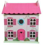 아이와 아이들을%s 나무로 되는 분홍색 인형 집 장난감