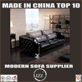 Wohnzimmer-stellte lederne Sofa-Couch 1+2+3 Italien der Luxus-Möbel ein