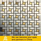 Het speciale Mozaïek van het Glas van het Kristal van de Mengeling van het Metaal van de Grootte in Gouden Kleur