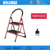 Ladder van het Staal van 2 Stap van het huishouden de Vouwbare