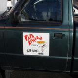 Etiqueta do ímã removível, Pop-up Magnetic Sign for Car
