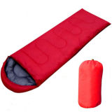 屋外の大人のエンベロプのフード付きの空の綿の寝袋