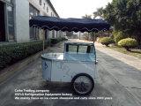 Congélateurs italiens d'étalage de chariot de /Gelato de chariots de crême glacée à vendre