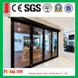 Дверь складчатости главного качества с двойным Tempered стеклом