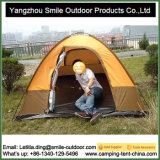 Drapeja o evento resistente 3-Person do vento barraca de acampamento de dois níveis