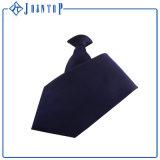 Clip uniforme vendedor caliente del poliester del color sólido en la corbata del lazo/de la cremallera